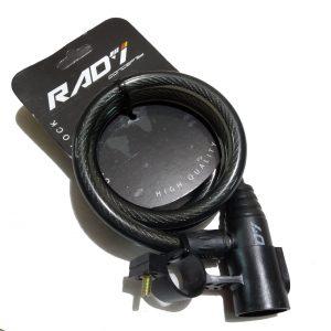Cadeado Com Chave Para Bike 1,20m Aço Silicone Rad7