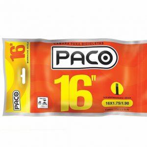 Camara de ar aro 16 Paco