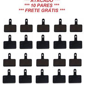 10 Pares Pastilha Freio Mec. Hidráulico Rad7 Tipo Shimano